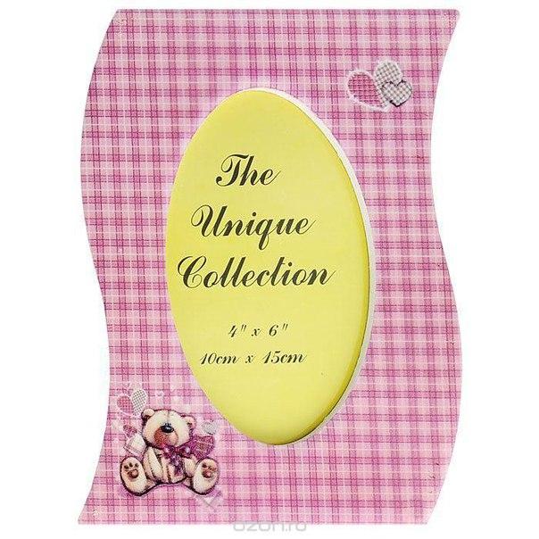 """Фоторамка """"медвежонок"""", цвет: розовый, 10 см x 15 см. 25791, Феникс-презент"""