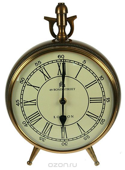 Часы настольные , цвет: бронзовый, 22 см х 9 см х 21 см, Win Max