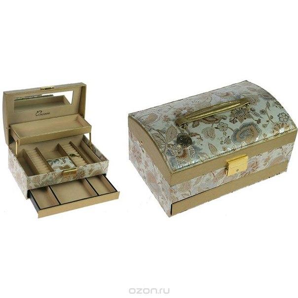 Шкатулка для ювелирных украшений , цвет: светло-бежевый. 83354, CALVANI