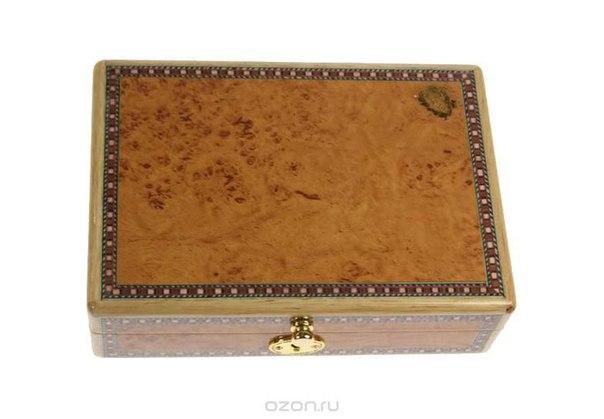 """Шкатулка ювелирная """"mercante"""", цвет: светло-коричневый, 20 см х 14 см х 5,5 см. 36017, Русские подарки"""
