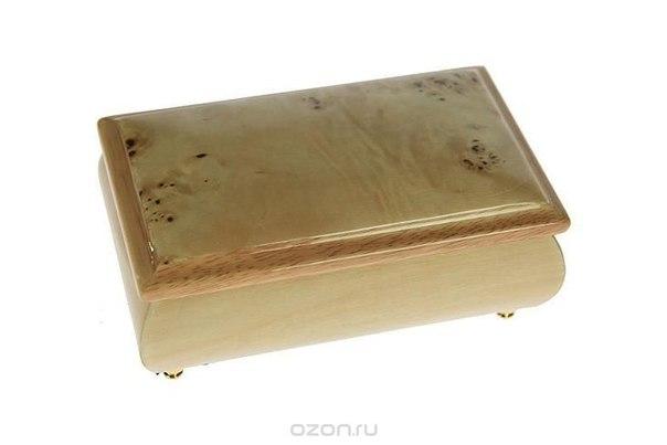 """Шкатулка ювелирная """"mercante"""", цвет: бежевый, 14,5 см х 5,5 см х 9 см. 36149, Русские подарки"""
