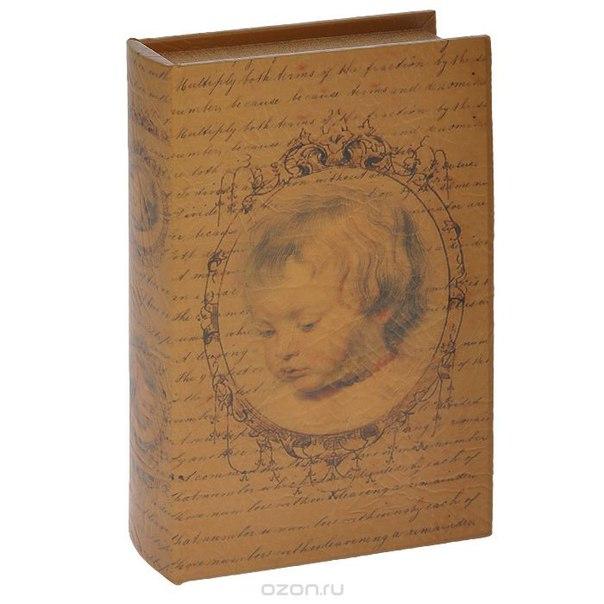 "Шкатулка-фолиант ""портрет"", цвет: светло-коричневый, 26 см х 16 см х 4,5 см. 184154, Win Max"