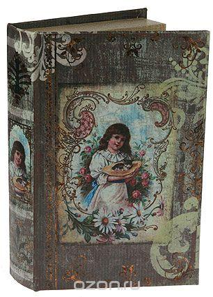 "Шкатулка-фолиант ""девочка"", цвет: бежевый, 26 см х 16,5 см х 4,5 см. 184172, Win Max"