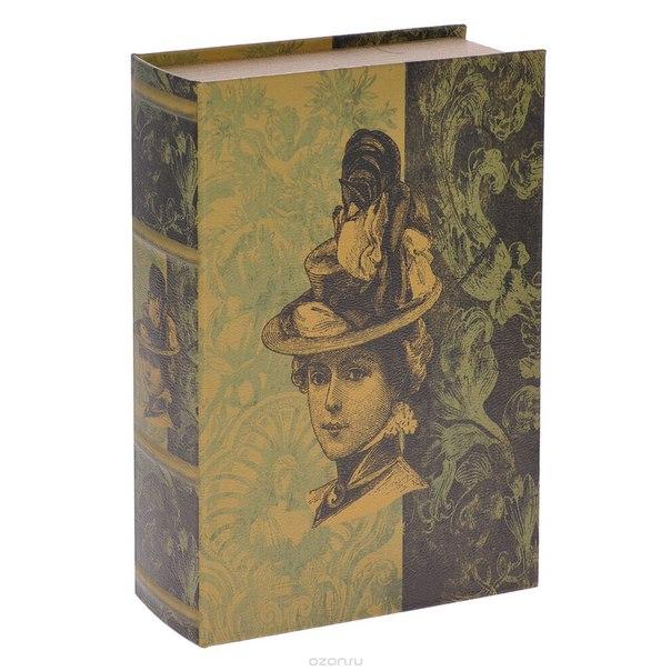 """Шкатулка-фолиант """"незнакомка"""", цвет: желтый, зеленый, коричневый, 30 см х 21 см х 7 см. 184182, Win Max"""