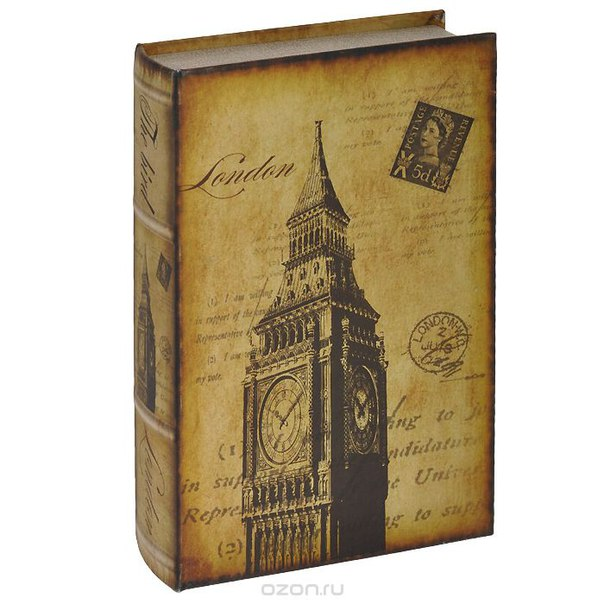 "Шкатулка-фолиант ""величие лондона"", цвет: бежевый, 26 см х 16 см х 4,5 см. 184188, Win Max"