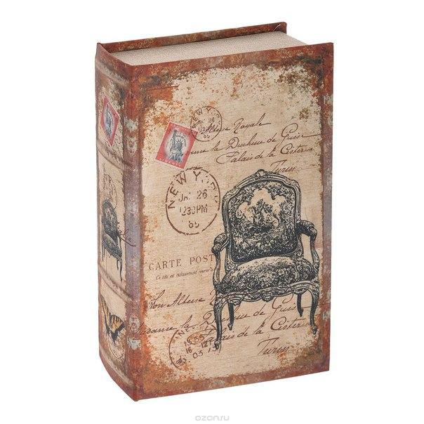 "Шкатулка-фолиант ""открытка"", цвет: бежевый, 27 см х 17 см х 7 см. 184193, Win Max"