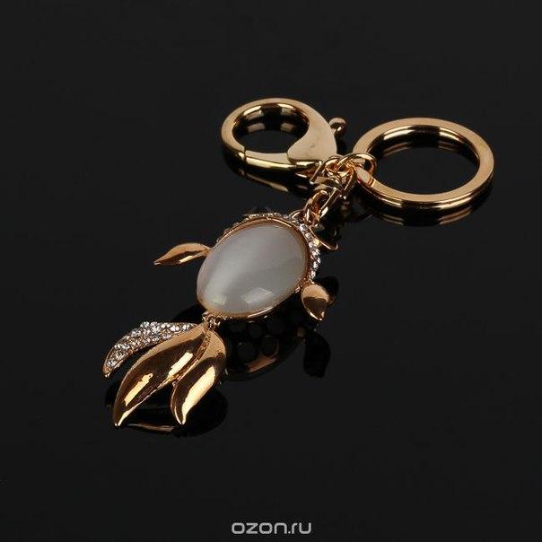 """Брелок """"рыбка"""", цвет: золотистый, коричневый. fh30127, Fashion House"""