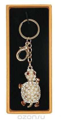 """Брелок для сумочки и ключей """"черепашка"""", цвет: золотистый, белый. 64242, Win Max Ent."""