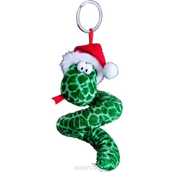 """Мягкая игрушка-брелок """"змея"""", цвет: зеленый. tvb-2013/1g, Mister Christmas"""