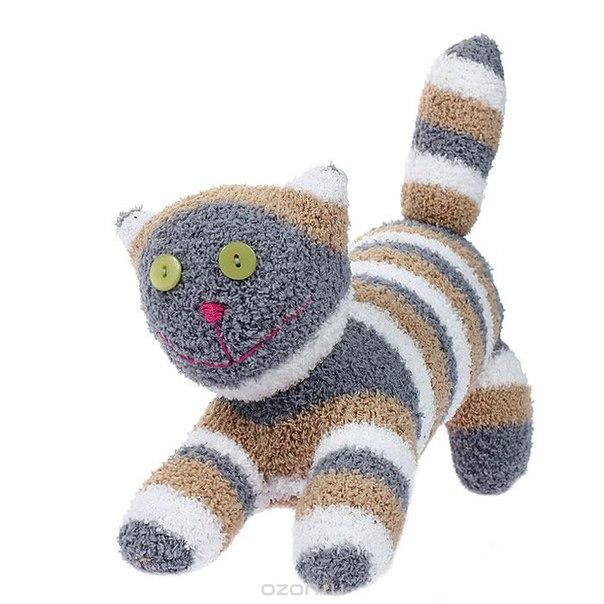 """Игрушка """"носкитос. котенок-игруля"""" - ручная авторская работа. нос170913-39, Антресоли"""