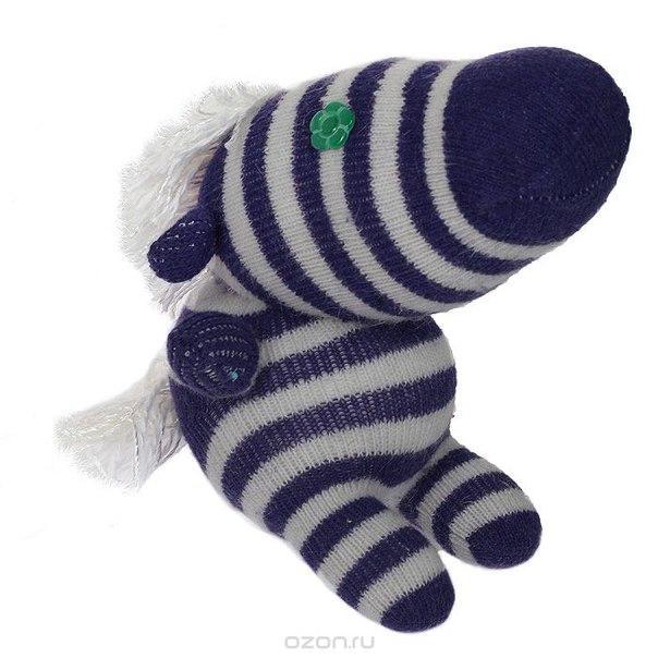 """Авторская игрушка """"носкитос. лошадка сидящая"""" - ручная работа. нос170913-48, Антресоли"""