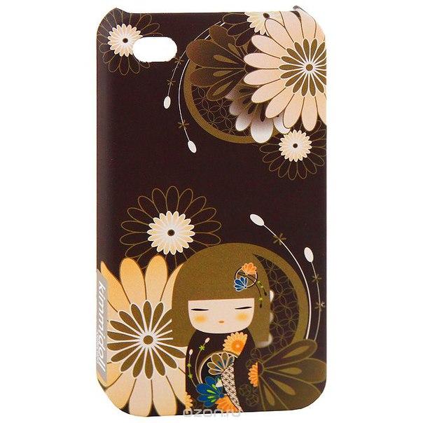 "Чехол для iphone 4/4s ""юа (добро)"", цвет: коричневый. kf0503, Kimmidoll"