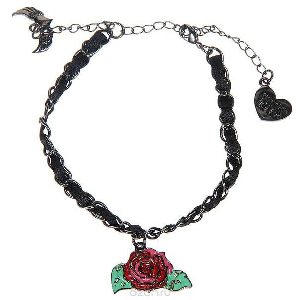 """Женский браслет """"роузи рокет (страсть к жизни)"""", цвет: черный, красный. klf169, Kimmidoll"""