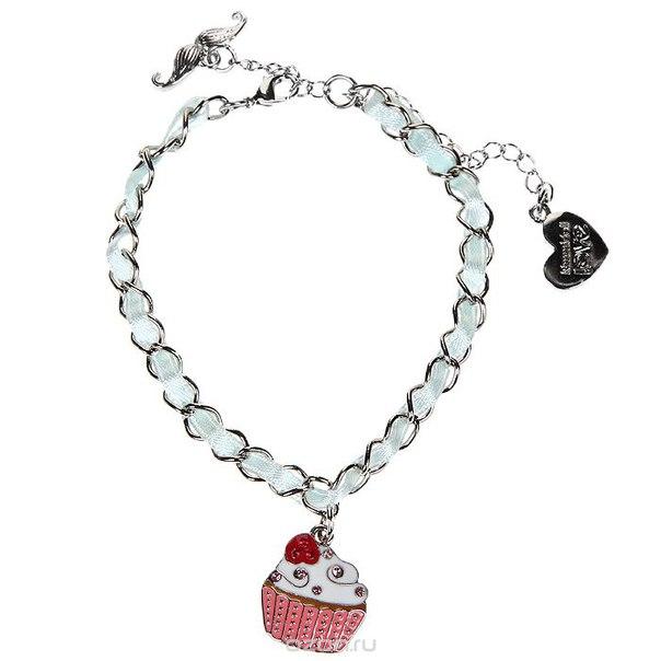 "Женский браслет ""сластена мег (волшебница)"", цвет: серебристый, белый. klf170, Kimmidoll"