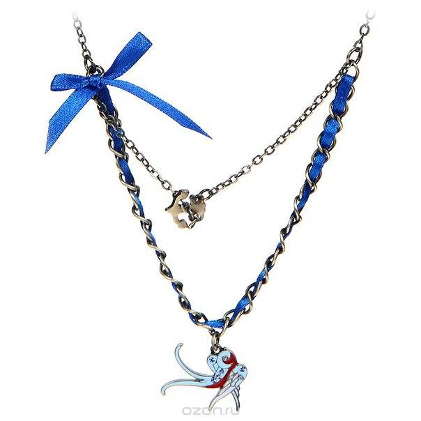 "Подвеска на шею ""морячка салли (путешественница)"", цвет: бронзовый, синий. klf164, Kimmidoll"
