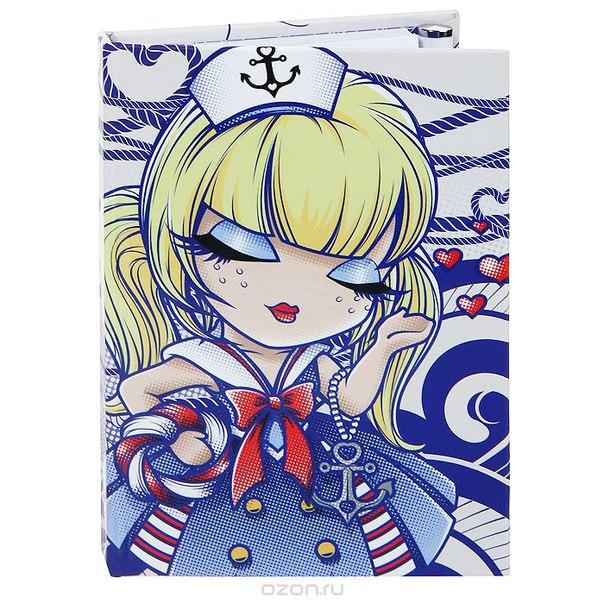 "Карманный блокнот с ручкой ""морячка салли (путешественница)"". kls156, Kimmidoll"