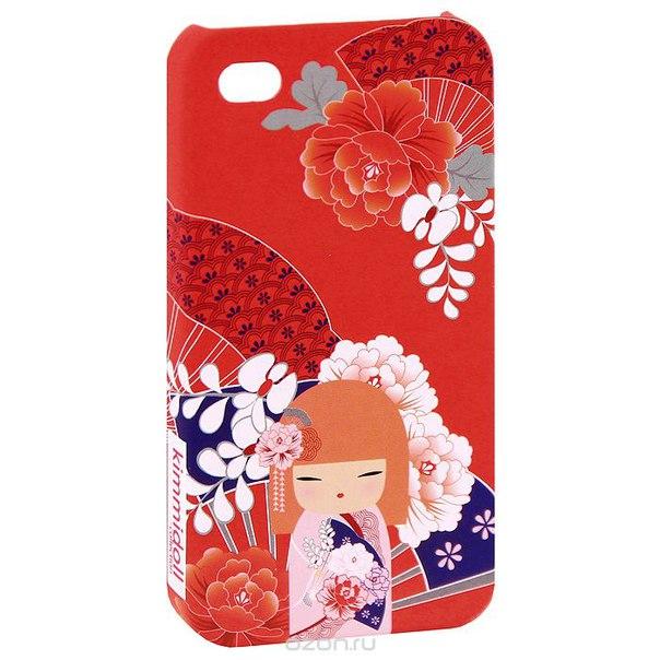 """Чехол для iphone 4/4s """"тамаки (драгоценность)"""", цвет: красный. kf0499, Kimmidoll"""