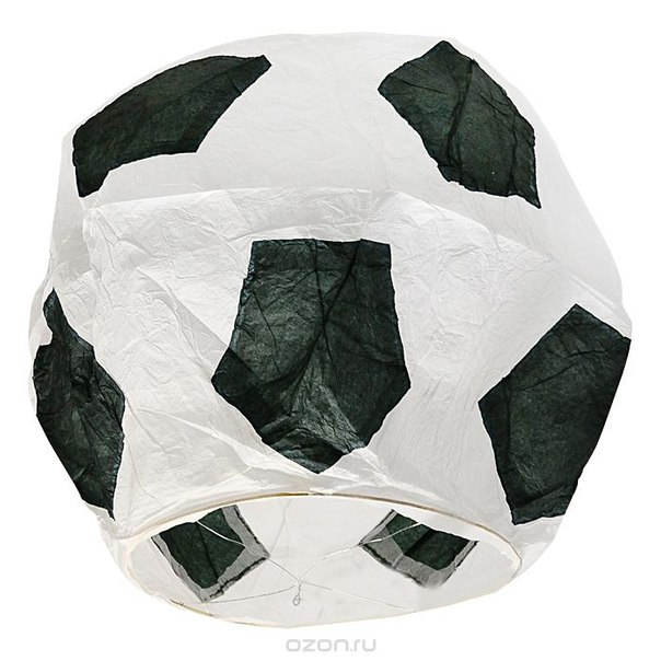"""Фонарь желаний эврика """"футбольный мяч"""", цвет: черно-белый, Эврика"""
