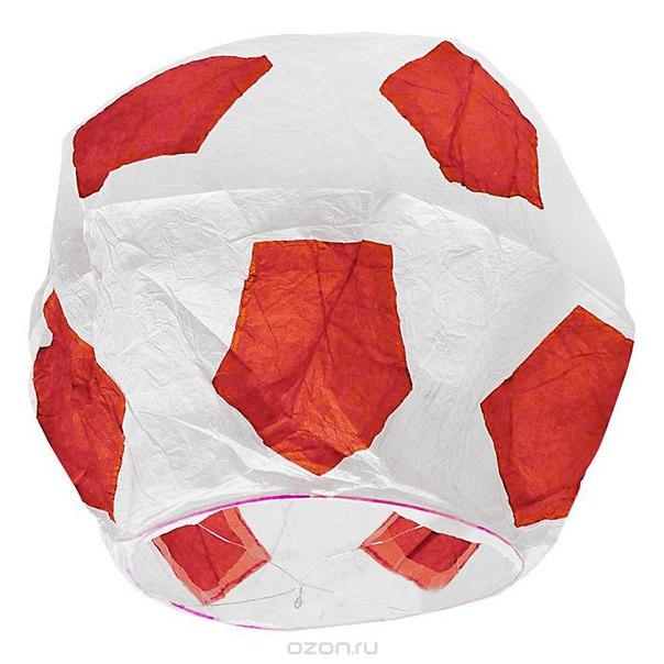 """Фонарь желаний эврика """"футбольный мяч"""", цвет: красный, Эврика"""