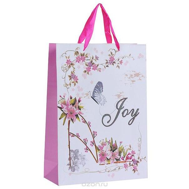 """Пакет подарочный """"туфелька"""", цвет: белый, розовый, 41 см x 30 см x 12 см, Qian zhi he Handbag"""
