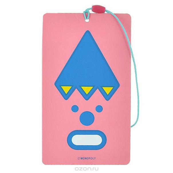 "Бирка для чемодана ""bon voyage"", цвет: розовый, Ezh-style"