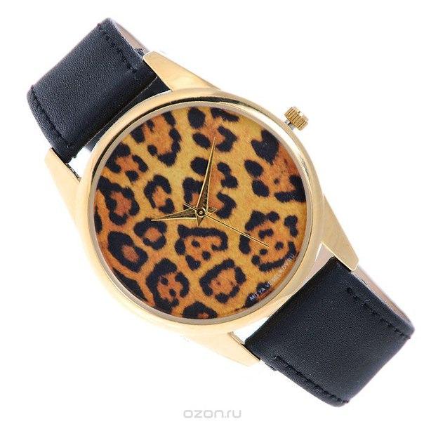 """Часы наручные """"леопардовый принт"""". gold-1, Mitya Veselkov"""