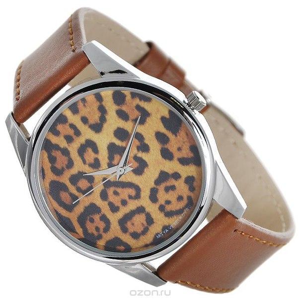 """Часы наручные """"леопардовый принт"""", цвет: светло-коричневый. color-32, Mitya Veselkov"""