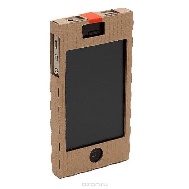 """Картонный чехол для iphone 4 """"carton case"""", цвет: коричневый, 3 шт, ОРЗ-Дизайн"""