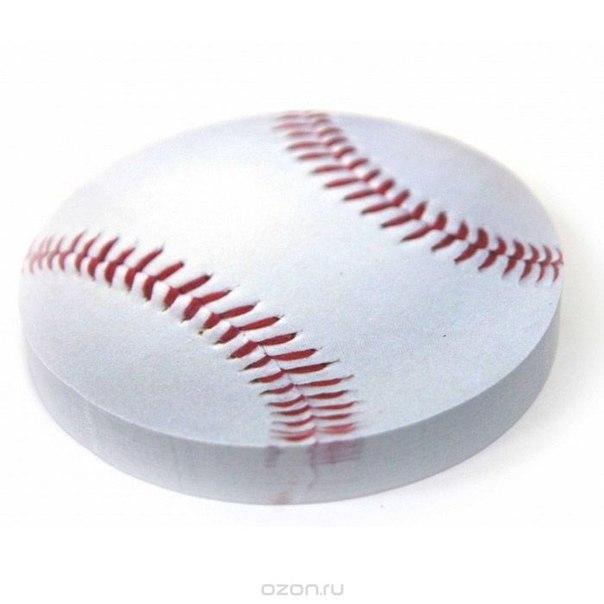 """Стикер """"бейсбольный мяч"""", цвет: белый. 002509, Карамба"""