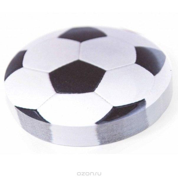 """Стикер """"футбольный мяч"""", цвет: белый. 002510, Карамба"""