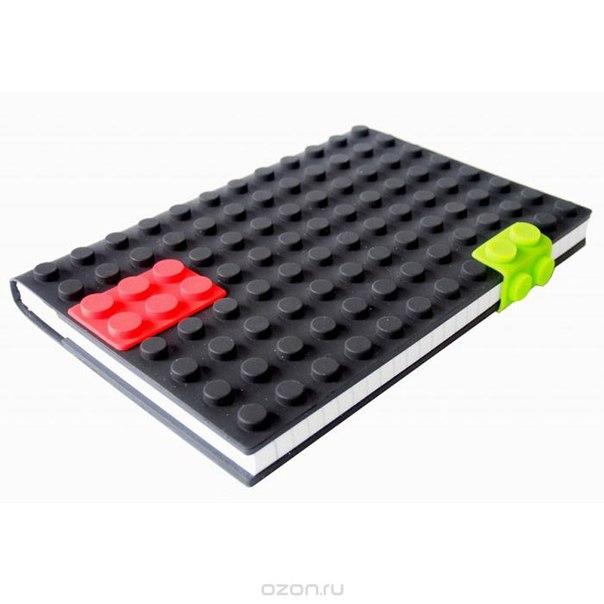 """Блокнот """"lego"""", цвет: черный, 14 см х 21 см. 002872, Карамба"""