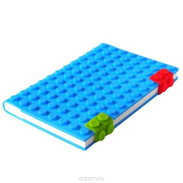 """Блокнот """"lego"""", цвет: синий, 14 см х 21 см. 002873, Карамба"""