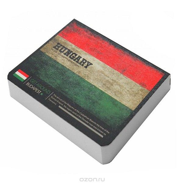 """Блокнот """"страны. венгрия"""", цвет : зеленый, красный, белый, Карамба"""