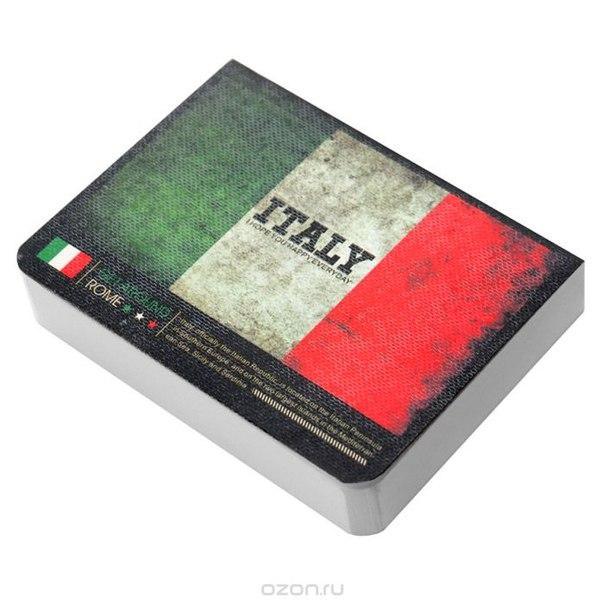 """Блокнот """"страны. италия"""", цвет: зеленый, белый, красный, Карамба"""