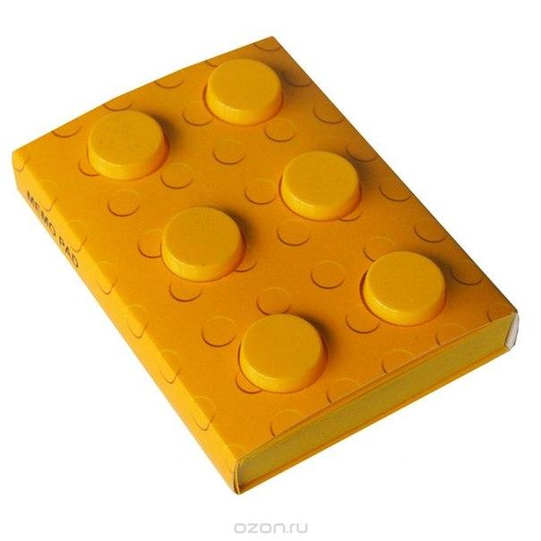 """Блокнот """"конструктор"""", цвет: желтый, 8 см х 11,5 см. 002749, Карамба"""