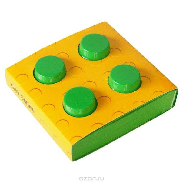 """Блокнот """"конструктор"""", цвет: зеленый, 8 см х 8 см. 002751, Карамба"""