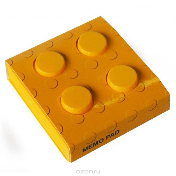 """Блокнот """"конструктор"""", цвет: желтый, 8 см х 8 см. 002875, Карамба"""