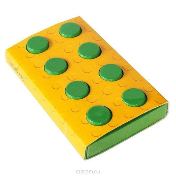 """Блокнот """"конструктор"""", цвет: зеленый, 8 см х 14 см. 002878, Карамба"""