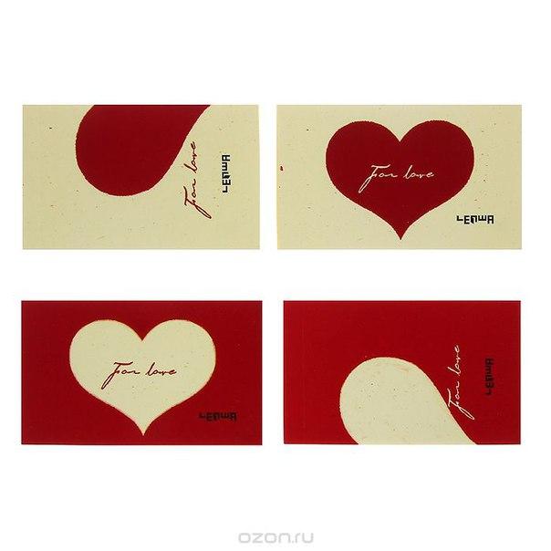 """Набор блокнотов """"сердце"""", цвет: красный, желтый, 4 шт. 003338, Карамба"""