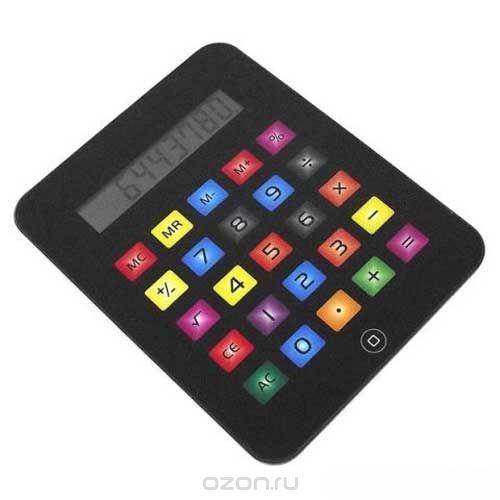 """Калькулятор """"телефон"""", большой, цвет: черный. 002279, Карамба"""