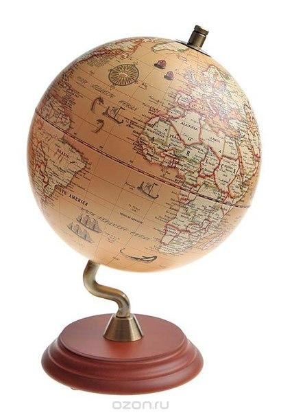 """Настольный сувенир """"античный глобус"""", диаметр 20 см, Win Max Ent."""