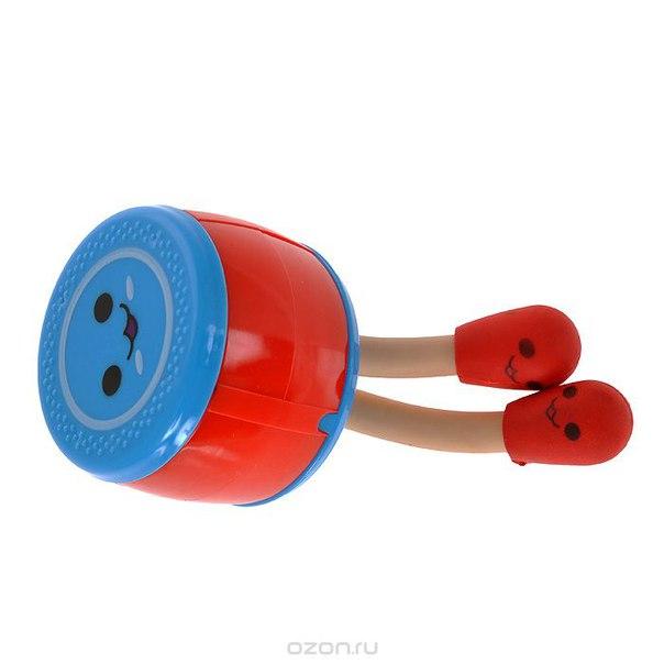 "Точилка для карандашей ""барабан"", 2 ластика, цвет: красный, голубой. 003509, Карамба"