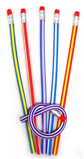 "Набор гибких карандашей ""leilei"", с ластиками, 18 см, 6 шт, Карамба"