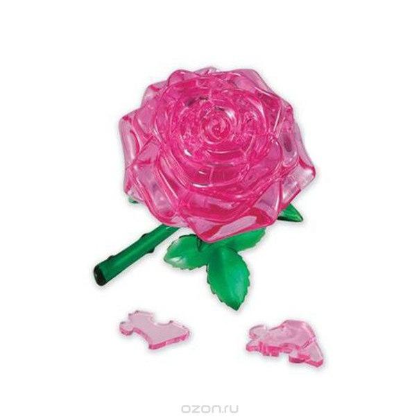 "3d-головоломка ""роза"", цвет: розовый, 45 элементов, 3D Crystal Puzzle"