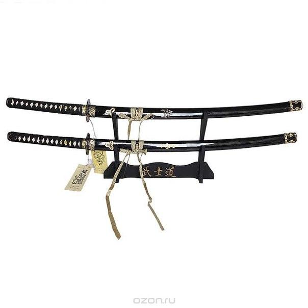 Набор самурайских мечей: катана и вакидзаси на подставке, 102 см, Yick Le Tak Investment Ent.