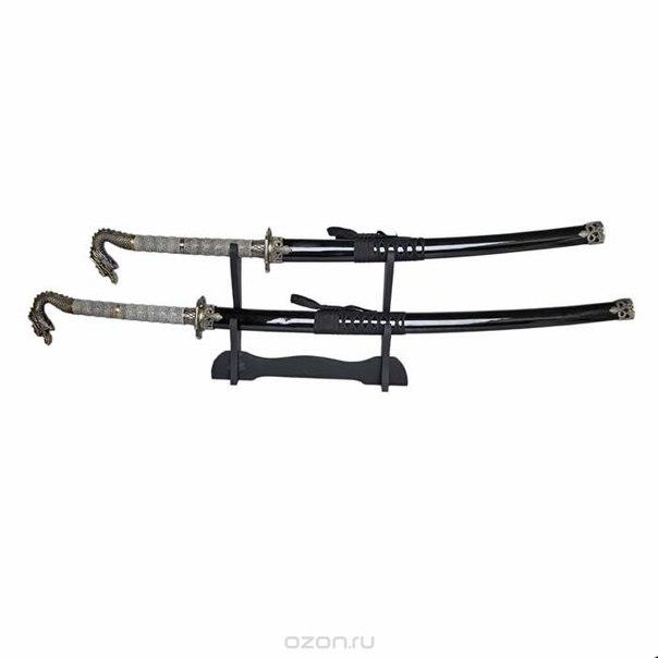 Набор самурайских мечей: катана и вакидзаси на подставке, 105 см, Yick Le Tak Investment Ent.