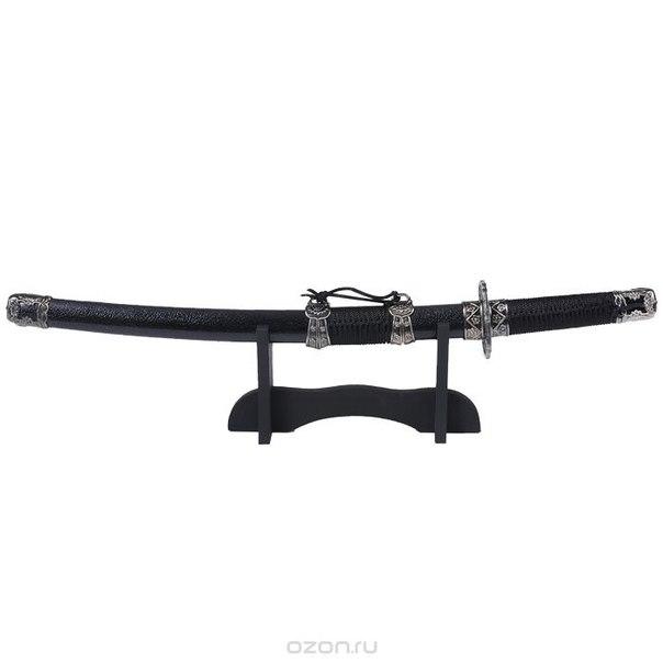 """Сувенирное оружие """"катана"""" на подставке, цвет: черный, длина 50 см, Sima-land"""