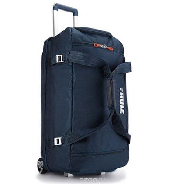 Сумка для багажа , цвет: синий, 87 л, THULE