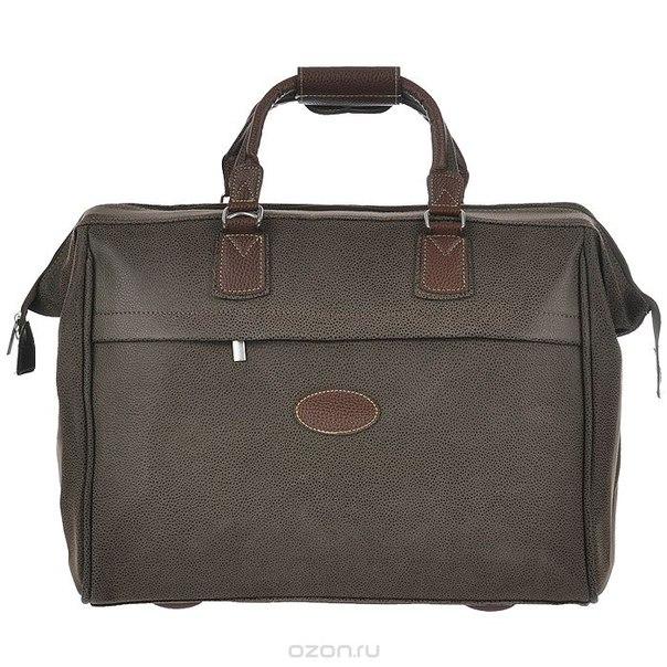 Сумка дорожная, кожаная, цвет: темно-коричневый, 42 см x 23,5 см x 32 см, Beijing Alex Ltd