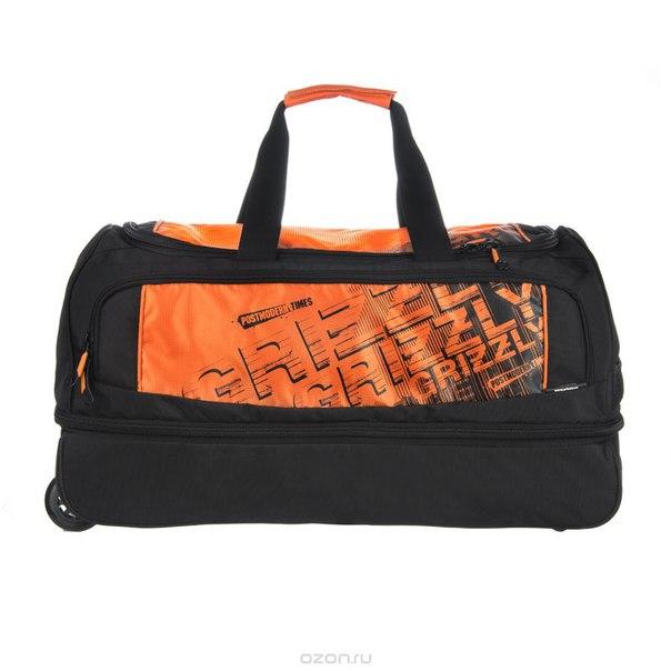 Сумка колесная , цвет: черный, оранжевый. tl-424-3, Grizzly